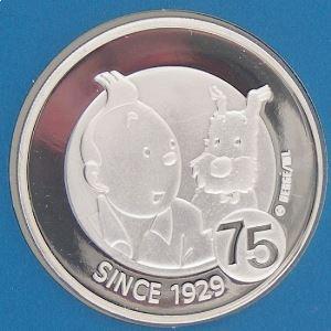 Euro, Belgique, Tintin, 10 Euro 2004 BE