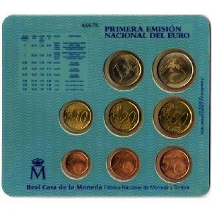 Euro, Espagne, coffret Brillant Universel 1999