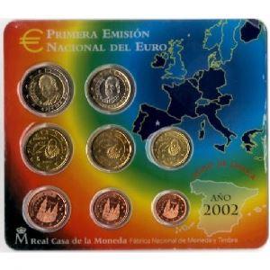 Euro, Espagne, coffret Brillant Universel 2002