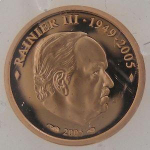 Euro, Monaco, Rainier III, 10 Euro Or 2005