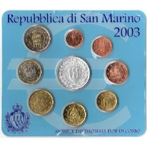 Euro, Saint Marin, coffret Brillant Universel 2003