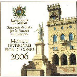 Euro, Saint Marin, coffret Brillant Universel 2006