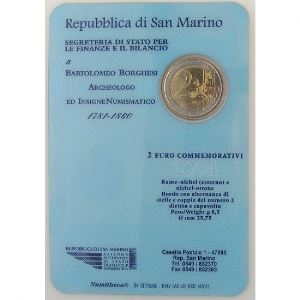 Euro, Saint Marin, San Marino, 2 euro 2004,  Bartolomeo Borghesi