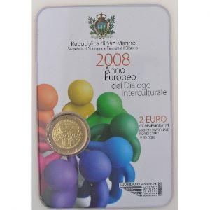 Euro, Saint Marin, San Marino, 2 euro 2008, Année européenne du dialogue interculturel