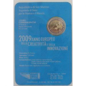 Euro, Saint Marin, San Marino, 2 euro 2009,  Année de la créativité et de l'innovation