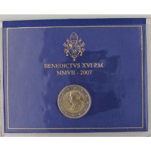 Euro, Vatican, 2 euro 2007, 80ème Anniversaire de Benoit XVI