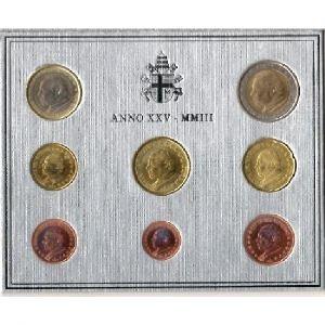 Euro, Vatican, coffret Brillant Universel 2003