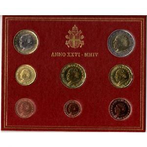 Euro, Vatican, coffret Brillant Universel 2004