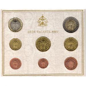 Euro, Vatican Siège Vacant, coffret Brillant Universel 2005