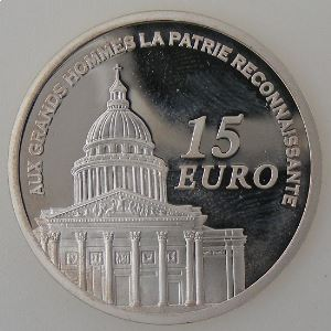 Euro , France, 15 Euro 2007 BE