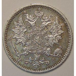 Finland, 25 Penniä 1890, TTB+, KM# 6.2
