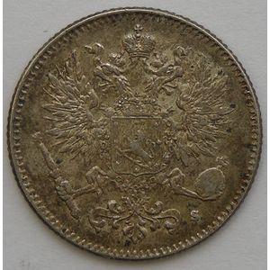 Finland, 50 Pennia 1916 S, SUP/SUP+, KM# 2.2
