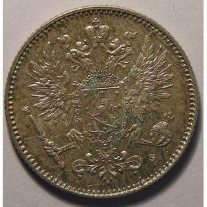 Finlande, Finland, 50 Penniä 1916 s, SUP/SUP+, KM # 2.2