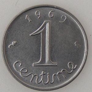 France, 1 Centime 1969 queue longue , SUP/SUP+, KM#928 .