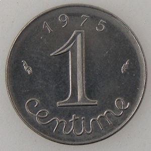 France, 1 Centime 1975,SUP+/SPL, KM#928 .