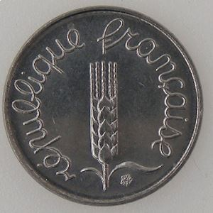 France, 1 Centime 1987, SUP+ , KM#928 .