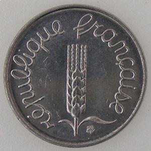 France, 1 Centime 1988, SPL, KM#928 .