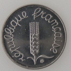 France, 1 Centime 1988 , SUP+, KM#928 .