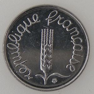 France, 1 Centime 1989, SUP+, KM#928 .