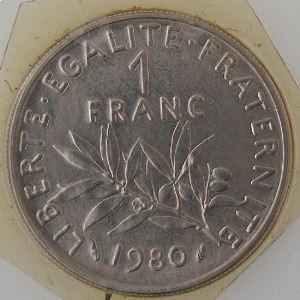 France, 1 Franc 1980, FDC , KM# 925.1