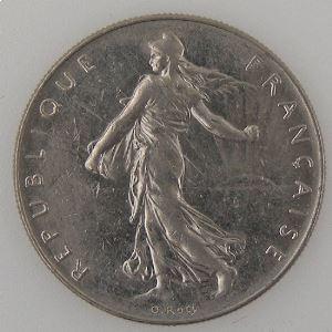 France, 1 Franc 1984, TTB+, KM# 925.1