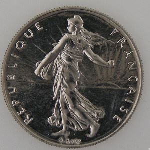 France, 1 Franc 1988, SPL, KM# 925.1