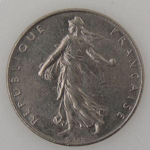 France, 1 Franc 1989, SUP, KM# 925.1