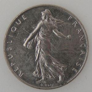 France, 1 Franc 1989, SUP+, KM# 925.1