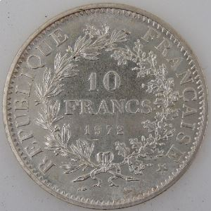 France, 10 Francs 1972, SUP , KM#932