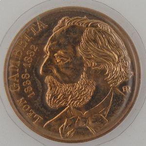 France, 10 Francs 1982 Gambetta, FDC, KM# 950