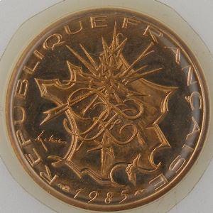 France, 10 Francs 1985 Tranche B, FDC, KM#940