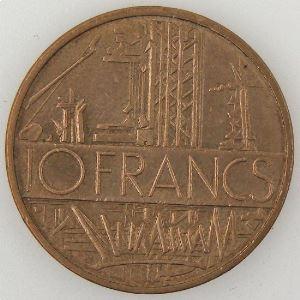 France, 10 Francs 1985 Tranche B, TTB+, KM#940