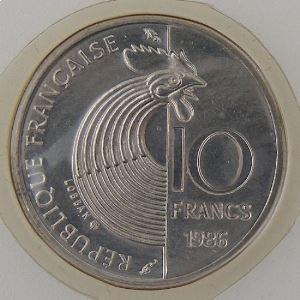 France, 10 Francs 1986  Schuman, FDC, KM#958