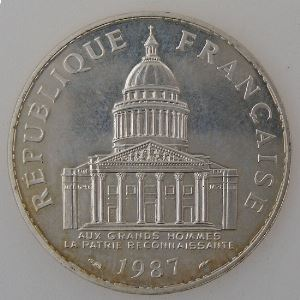 France, 100 Francs 1987, Panthéon, SUP, KM# 951.1