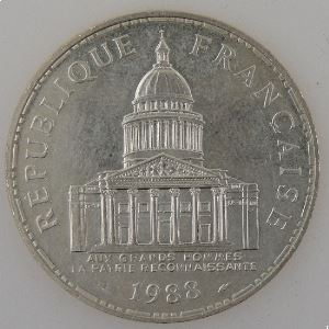 France, 100 Francs 1988, Panthéon, SUP, KM# 951.1