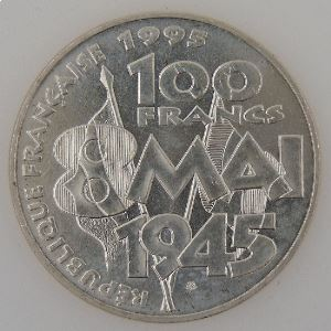 France, 100 Francs 1995, 8 Mai 1945, SUP+, KM# 1116.1