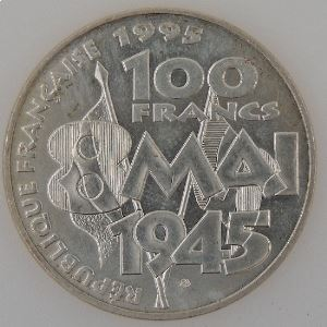 France, 100 Francs 1995, 8 Mai 1945, SUP+ , KM#1116.1