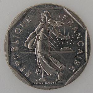 France, 2 Francs 1988, SUP+, KM#542.1