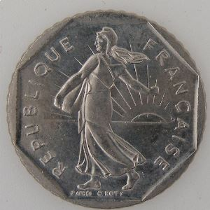 France, 2 Francs 1992, SUP+, KM#542.1