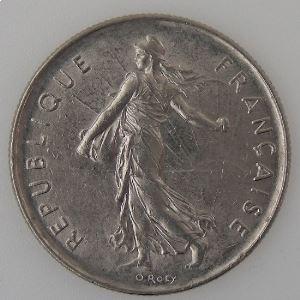 France, 5 Francs 1976, TTB/TTB+, KM# 926a.1
