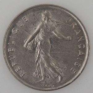 France, 5 Francs 1976, TTB+, KM#926a.1