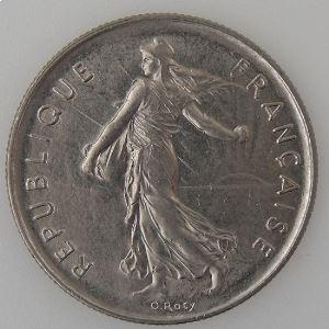 France, 5 Francs 1977, TTB+, KM# 926a.1