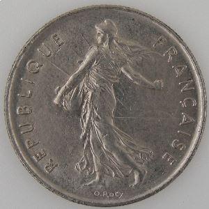 France, 5 Francs 1977 , TTB+, KM#926a.1
