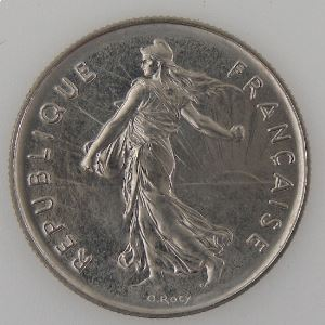 France, 5 Francs 1980, SPL, KM#926a.1