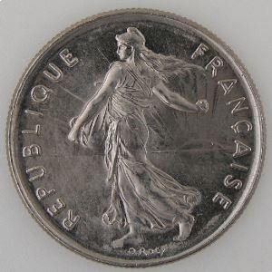 France, 5 Francs 1988, SUP+, KM#926a.1