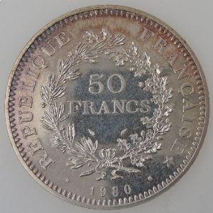 France, 50 Francs 1980, SPL, KM#941