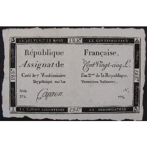 France, Assignat de 125 Livres , Série: 371, TTB+