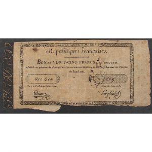 France, Bon de 25 Francs, TB
