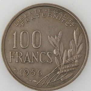 France, Cochet, 100 Francs 1956, TTB, KM#919.1
