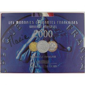 France, Coffret Brillant Universel 2000, 1 Centime Rebord